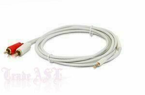 Готовый 2 RCA х 3.5 Jack кабель